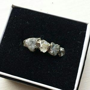 Anthropologie Danu Barbe Semi Precious Stone Ring